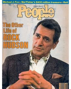 """529 Likes, 5 Comments - @lgbt_history on Instagram: """"""""THE OTHER LIFE OF ROCK HUDSON,"""" @people, August 12, 1985. . Rock Hudson (November 17, 1925 –…"""""""