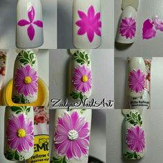 If you're looking to do seasonal nail art, spring is a great time to do so. The springtime is all about color, which means bright colors and pastels are becoming popular again for nail art. These types of colors allow you to create gorgeous nail art. Nail Art Hacks, Nail Art Diy, Cool Nail Art, Diy Nails, Flower Nail Designs, Best Nail Art Designs, Nail Designs Spring, Spring Nail Art, Spring Nails