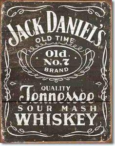Poster Lamina Jack Daniels Woodcut Retro Vintage