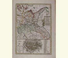 A New and Accurate Map of the North East part of Germany. 1752