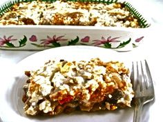 Skinnyfabulous Moussaka Casserole! It's a super delicious, hearty, Greek dish. Each serving has 218 calories, 6 grams of fat and 5 Weight Watchers POINTS PLUS. http://www.skinnykitchen.com/recipes/skinnyfabulous-moussaka-casserole/