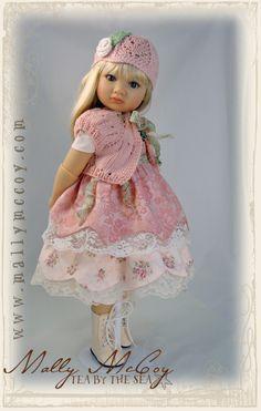 Spun Sugar OOAK outfit that fits the Kidz N Cats children dolls by Sonja Hartmann