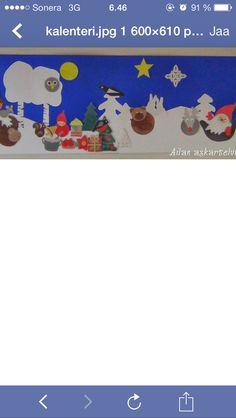 Maisema valmiina Satu, Advent Calendars, Christmas Stuff, Flag, Kids Rugs, School, Decor, Decoration, Decorating