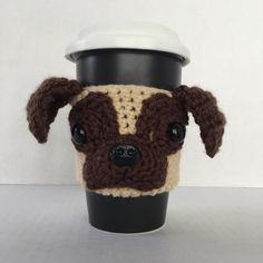 ****This is a crochet pattern and not the finished item****  This adorable Pug cozy is unique and loaded with personality! It looks so real you