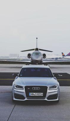 Audi S8 and a multi-million dollar friend