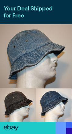 88daa917e80 MEN 100% COTTON DENIM FISHING BUCKET HAT CAP - SMALL MEDIUM or LARGE XL DB1