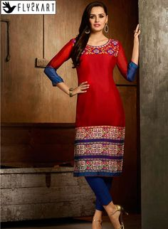 Red and Blue color Embroidery Work kurti http://www.fly2kart.com/red-and-blue-color-embroidery-work-kurti.html?utm_content=buffer281bc&utm_medium=social&utm_source=pinterest.com&utm_campaign=buffer BIG OFFER SALE UP TO 50% OFF!!! +91-8000800110 CALL OR WHATSAPP