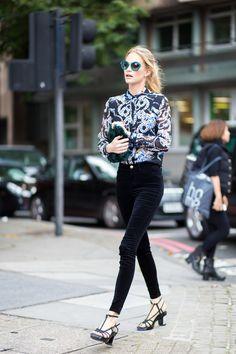 "runwayandbeauty: "" Poppy Delevingne before Topshop fashion show, London Fashion Week Spring 2015. Source: styledumonde """
