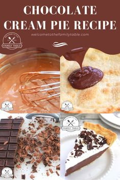 Are you looking for an easy and delicious chocolate cream pie recipe that sure to please all the sweet tooths in your house? Look no further!  #dessertrecipes #chocolatecreampie #creampierecipes #chocolatecreampierecipes #pierecipes #easypierecipes #dessertrecipes #easydessertrecipes #welcometothefamilytable #foodblog #foodbloggers #chocolatedesserts #chocolatedessertrecipes Easy Pie Recipes, Cream Pie Recipes, Dessert Recipes, Delicious Chocolate, Chocolate Desserts, Chocolate Cream, Sweet Tooth, Pudding, House