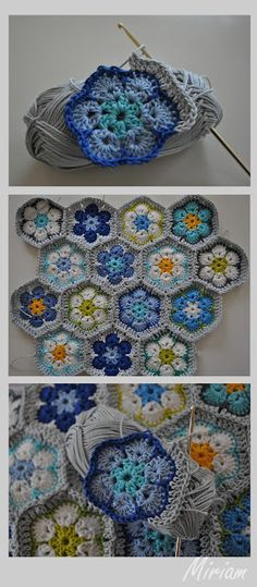 't Bezige Bijtje: Haken - I TOTALLY want an afghan that's made like this.  Gorgeous and intricate and just a glorious use of yarn!