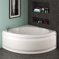 Trojan   Laguna Corner Bath 1200 X 1200mm With Panel Fliesen, Luxus  Badezimmer, Bad