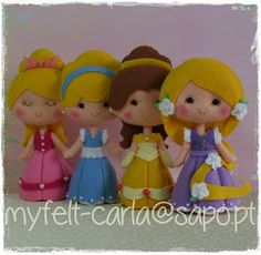 My Felt: Princesas em feltro!