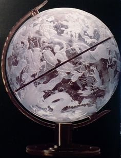 Edward Hald for Orrefors. The Sky Globe, 1930. -- I saw this piece in Stockholm: it's brilliant!