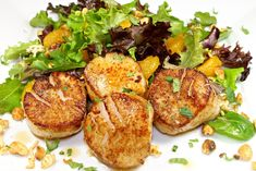 Chinese Five Spice Seared Scallops With Asian Salad