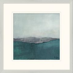 Abstract Landscape IIIa (2 in series) Print Item #: 5933 Size (WxH): 22x22 Medium: Giclée on Paper Specialty: Floated Bottom Mat Frame: M0814 Top Mat Width: 3 Bottom Mat Width: 3.375 Top Mat: B402 Bottom Mat: