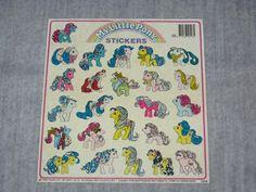 Vintage 1989 Original Hasbro My Little Pony Sticker Sheet | eBay