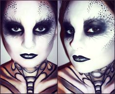 Gothic amour makeup.