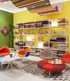 Alexander Girard: An Uncommon Vision by Herman Miller, New York, Alexander Girard, Wrought Iron Patio Chairs, Eames Chairs, Arm Chairs, Upholstered Chairs, Accent Chairs, Textured Carpet, Modern Carpet, Mid Century Modern Design