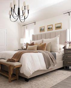 Room Ideas Bedroom, Home Decor Bedroom, Dream Bedroom, Taupe Bedroom, My New Room, Beautiful Bedrooms, Cozy House, Apartment Living, Apartment Master Bedroom