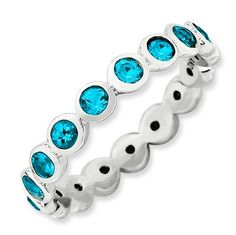 Sterling Silver Stackable Expressions December Swarovski Ring $43.43 #StackableExpressions #Jewelry. Love this.