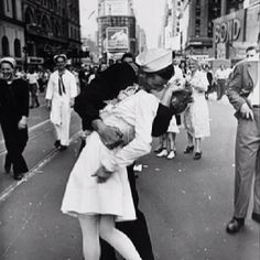 V-J Day.  Very famous pic.  The war was over.