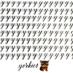 Does this yorkie look like an ewok? One letter to go! I got impatient to finish 😘 . Ewok, Yorkie, To Go, It Is Finished, Lettering, Words, Instagram, Calligraphy, Letters