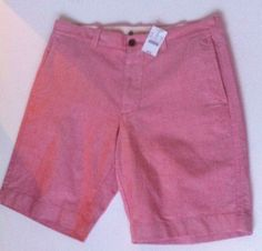 """NWT $54.50 MENS #JCREW 9"""" GRAMERCY RED CASUAL SHORTS SIZE 32 New Preppy  Summer #ebay - SOLD"""