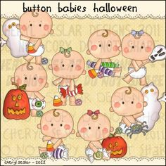 Button Babies Halloween 1 - Clip Art by Cheryl Seslar