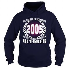 I Love 10 October 2005 Year Born Month All Men Are Created Equal Shirts Tshirt Guys Tee Ladies Hoodie Shirt VNeck Shirt Sweat Shirt Youth Tee for Men and Family T-Shirts