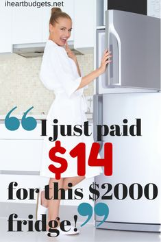 How we got our current stainless, french door refrigerator for only $14!