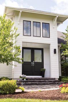 Vista Grande Fiberglass 1/2 Lite 1 Panel Exterior Door in Black Exterior Doors, Entry Doors, Garage Doors, Outdoor Decor, Black, Home Decor, Decoration Home, Outdoor Gates, Entrance Doors