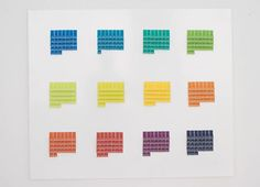 Calendar w paint chips!  Dayboard by StokkeAustad
