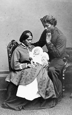 Hare and Hariata Pomare with their son Albert Victor, at Windsor Castle, England. Photo taken by the Mayall Studio ca 1863.