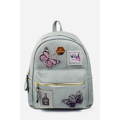 Butterfly Patched Cute Backpack (22 CAD) ❤ liked on Polyvore featuring bags, backpacks, butterfly bags, patch backpack, butterfly backpack, rucksack bags and day pack backpack