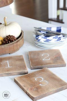 DIY Farmhouse Wooden Trivets  | simply kierste.com