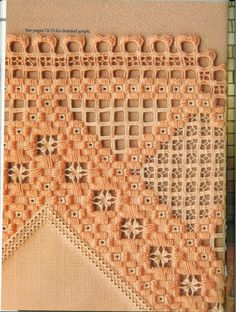 Gallery.ru / Фото #89 - Hardanger - sh-irina - A gorgeous piece of many different drawn thread stitches and hardanger done in apricot!