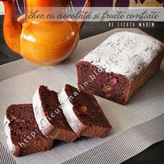Chocolate cake with candied fruit Candied Fruit, Chocolate Cake, Banana Bread, Foodies, Desserts, Recipes, Chicolate Cake, Tailgate Desserts, Chocolate Cobbler