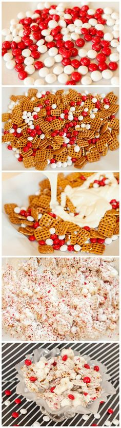 Pretzel Peppermint Bark Here's a delicious and easy sweet snack for the Christmas / Holiday season! This Peppermint Bark recipe also makes a great gift for friends, teachers, or neighbors! Christmas Snacks, Christmas Cooking, Christmas Goodies, Christmas Candy, Holiday Treats, All Things Christmas, Holiday Fun, Holiday Recipes, Christmas Recipes