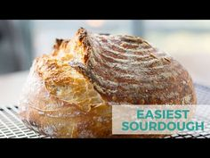 This is my favorite no-knead sourdough bread recipe. It is an easy, beginner sourdough bread that requires very little effort or skill and it creates a beautiful crusty loaf! Easy Sourdough Bread Recipe, Sourdough Bread Starter, Bread Recipes, Cooking Recipes, Healthy Recipes, No Bread Diet, No Knead Bread, Artisan Bread, Bread Baking