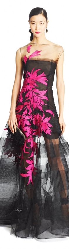 Oscar de la Renta Pre-Fall 2015. I just love these colors together! (Baby will not be wearing this...:)