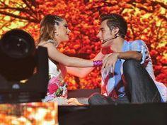 Jorge y Tini en Violetta en Vivo