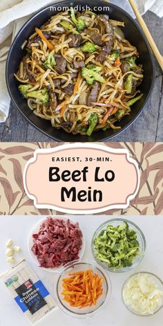 This beef lo mein is super easy to make and makes for the best dinner recipe. This recipe is simple and full of flavor, it is filled with veggies and meat and will keep you full for hours. This makes for the best family dinner, it's easy to make and requires minimal effort from you. #beeflomein #easydinnerrecipes #dinnerrecipes #dinnerideas #easyfamilydinnerrecipes #30minutedinnerrecipes #dinnerinunder30