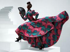 Toute l'élégance du pagne africaine.Lorsque la traduction s'exprime par les vêtements.