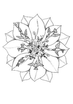 Free Printable Mandala Coloring Pages | Title: Christmas Mandala Coloring Pages