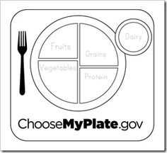 color choose my own plate template PLUS ideas for snack plan covering all the food groups