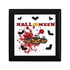#Evil pumpkin Halloween Jewelry Box - #halloween #party #stuff #allhalloween All Hallows' Eve All Saints' Eve #Kids & #Adaults