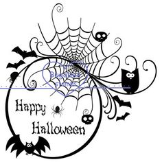 Silhouette - Happy Halloween circle