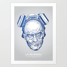 Mr. Heisenberg Art Print by Tomasz Zawistowski - $22.88