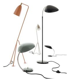 Greta Grossman's 1947 design. The grasshopper lamp is what I chose, lamp on far left — in black.