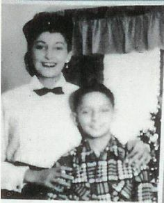 Barry Manilow and his mother